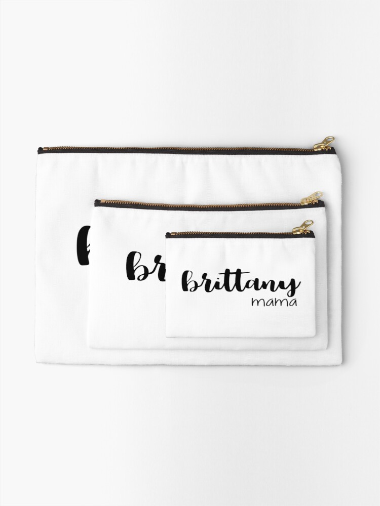 Alternate view of brittany mama Zipper Pouch