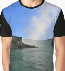 Niagara Falls Landscape Vibrant Graphic T-Shirt