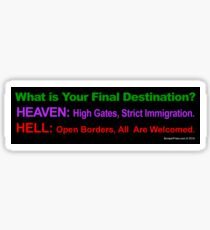 Final Destinations Sticker