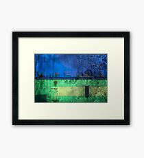 Metallic structure of shed Framed Print