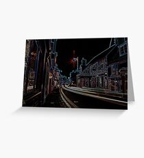 Neon lights- Whitstable, Kent  Greeting Card
