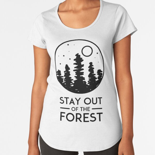 SSDGM MFM Murderino Stay Out of the Forest  Premium Scoop T-Shirt
