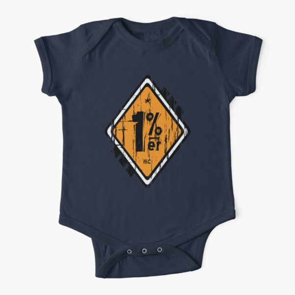 1 % Percenter Short Sleeve Baby One-Piece