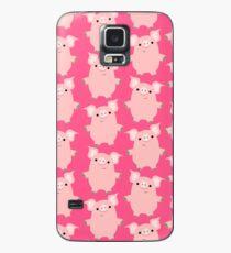 Nette neugierige Karikatur-Schwein-Zusätze durch Cheerful Madness !! Hülle & Klebefolie für Samsung Galaxy