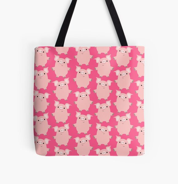 Cute Curious Cartoon Pigs Accessories by Cheerful Madness!! All Over Print Tote Bag