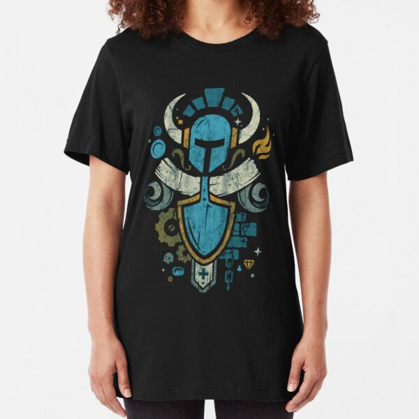 Shovel Knight Shovelry Emblem Crest Slim Fit T-Shirt