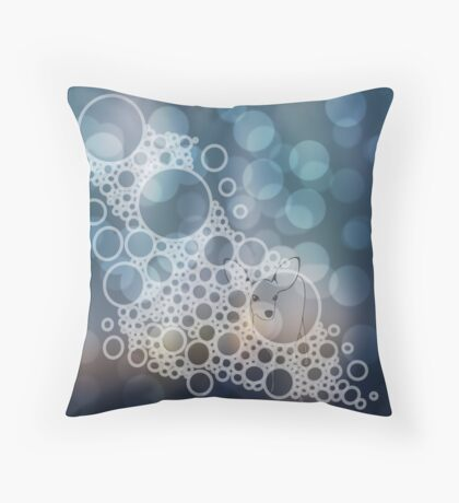 Bubble Bokeh Deer Throw Pillow