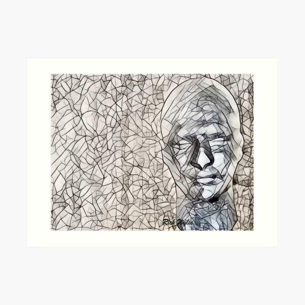 A-MAZE-ing Man! Art Print