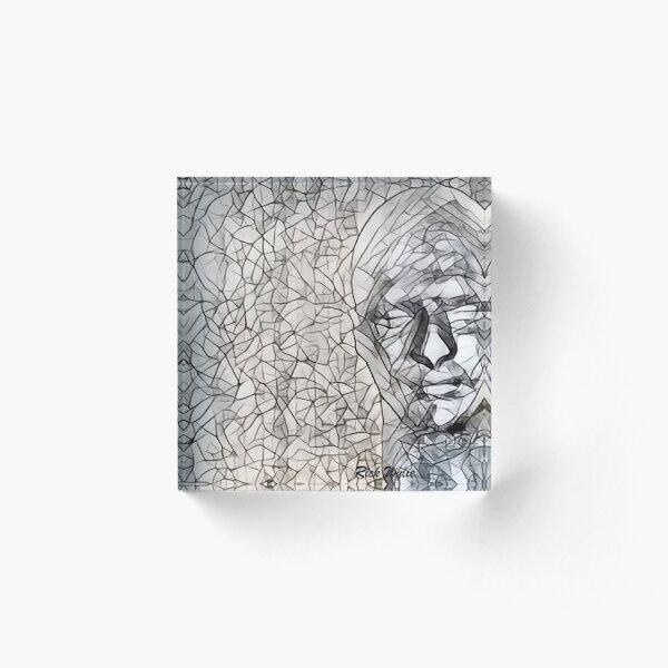 A-MAZE-ing Man! Acrylic Block