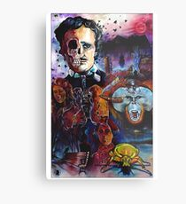 Edgar Allen Poe Metalldruck