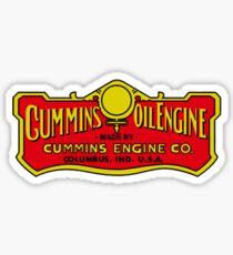 Cummins Oil Engine Vintage Sticker