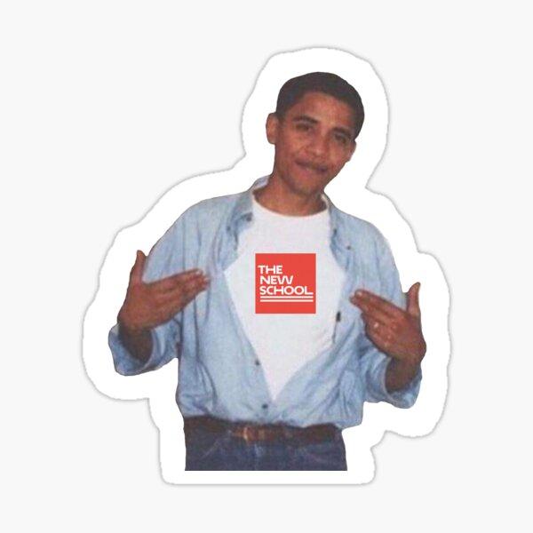 Obama The New School Sticker