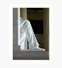 Lincoln's Leg Art Print