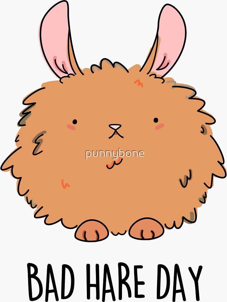 Bad Hare Day Animal Pun by punnybone