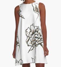 Blume A-Linien Kleid