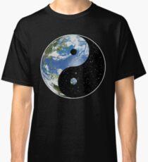 Earth and Space Yin Yang Symbol Classic T-Shirt