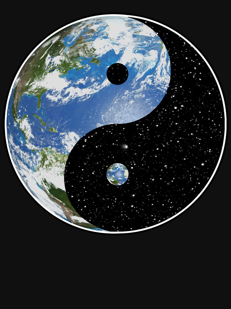 Earth and Space Yin Yang Symbol by darthpaul