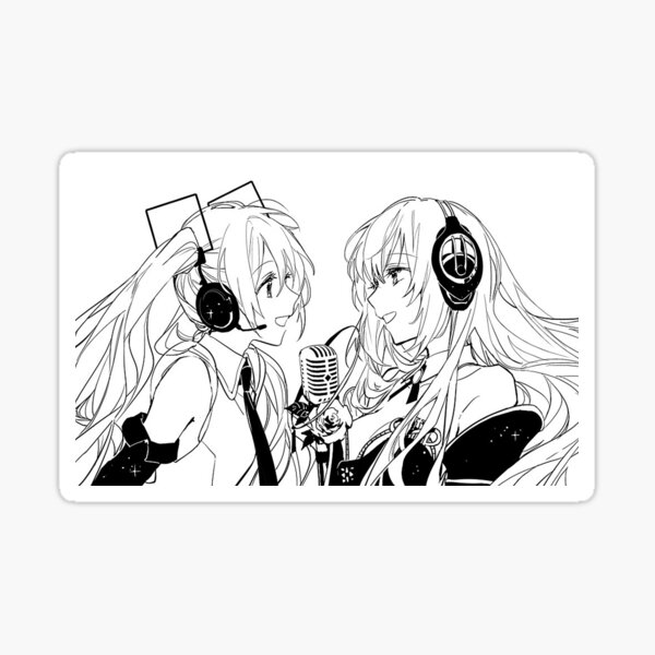 A Moment of Song: Miku and Luka Sticker