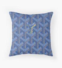 goyard brand paris blue texture pashion original Throw Pillow