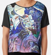 Spaceship Earth Mural Chiffon Top
