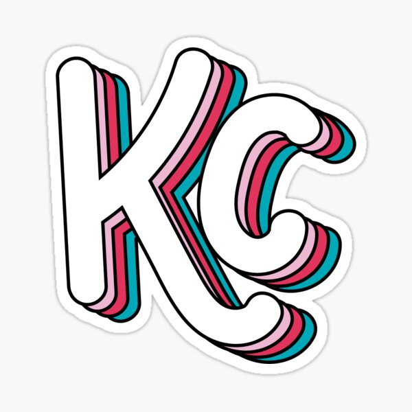 Retro KC (Berry) Sticker