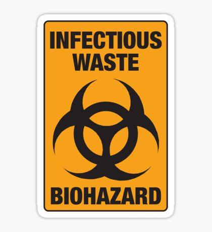 Infectious Waste Sticker