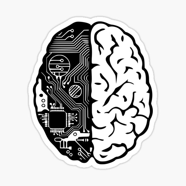 Coding Brain Sticker