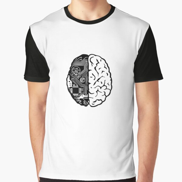 Coding Brain Graphic T-Shirt