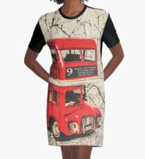 Bus line art Graphic T-Shirt Dress