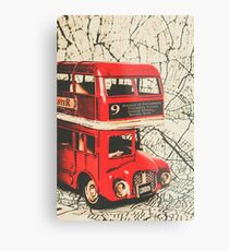Bus line art Metal Print