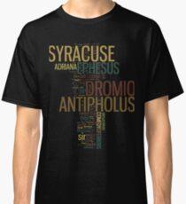 Shakespeare's The Comedy of Errors Wordplay Classic T-Shirt