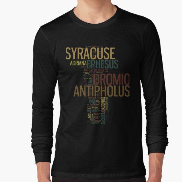 Shakespeare's The Comedy of Errors Wordplay Long Sleeve T-Shirt