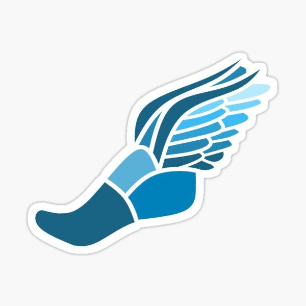 Blue Track Symbol Sticker