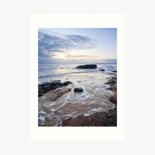 Dornoch Sea Swirl Art Print