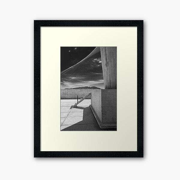 On the roof of Le Corbusier's Unité d'Habitation in Marseille - 4 Framed Art Print