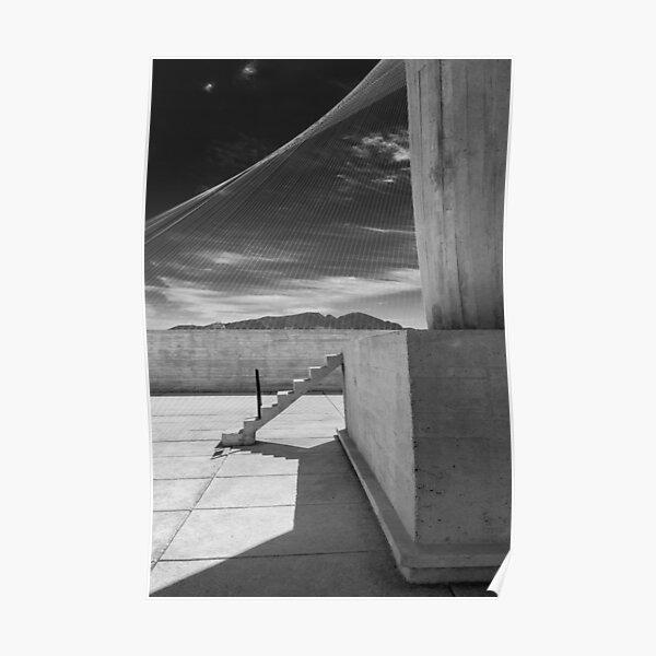 En el techo de la Unité d'Habitation de Le Corbusier en Marsella - 4 Póster
