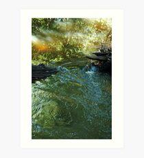 Stream Crossing Art Print