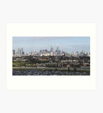Melbourne From Ferris Wheel Art Print
