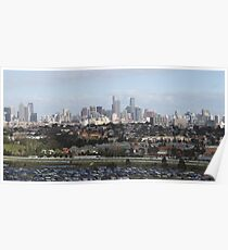 Melbourne From Ferris Wheel Poster