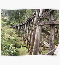 Monbulk Creek Trestle Bridge Poster