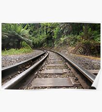 Puffing Billy Railway Track Poster