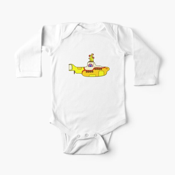 Yellow Submarine Long Sleeve Baby One-Piece