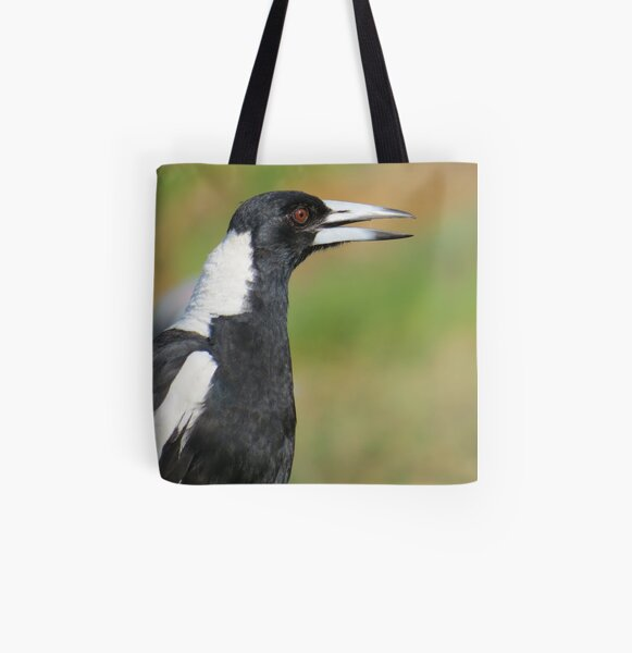 Australian Magpie Singing All Over Print Tote Bag