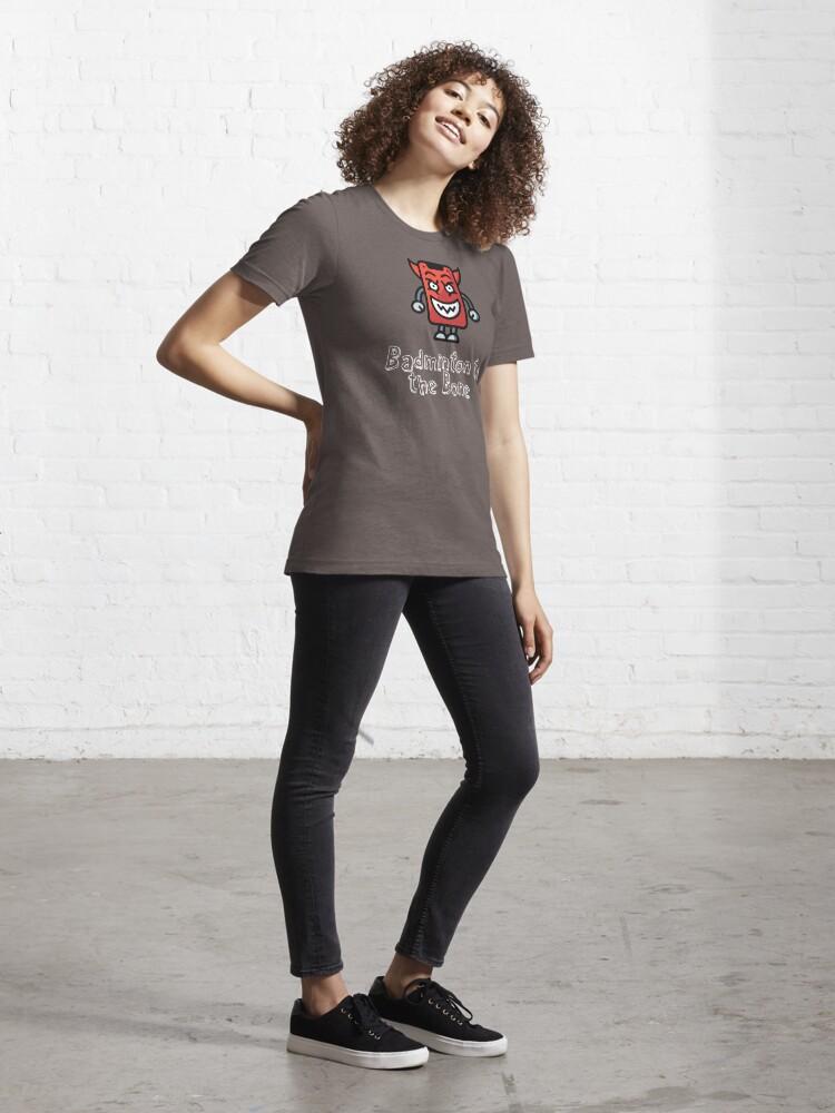 Alternate view of Badminton to the Bone Essential T-Shirt