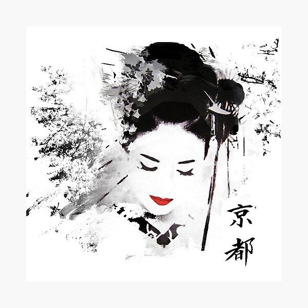 Kyoto Geisha Photographic Print