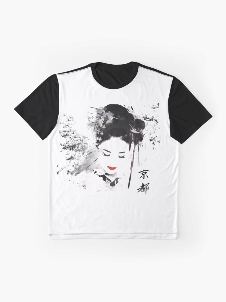 Alternative Ansicht von Kyoto Geisha Grafik T-Shirt