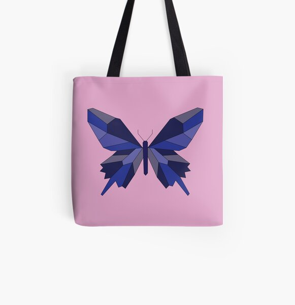 Geometric Butterfly All Over Print Tote Bag