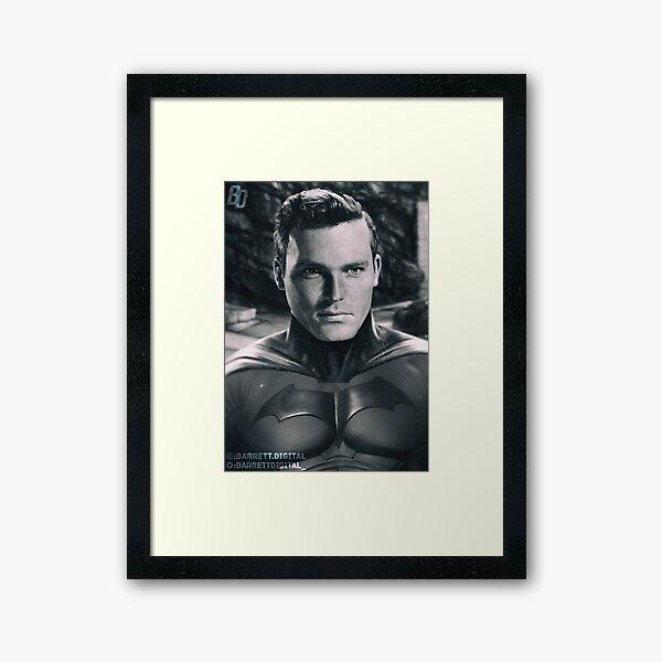 50s Bat Guy Framed Art Print