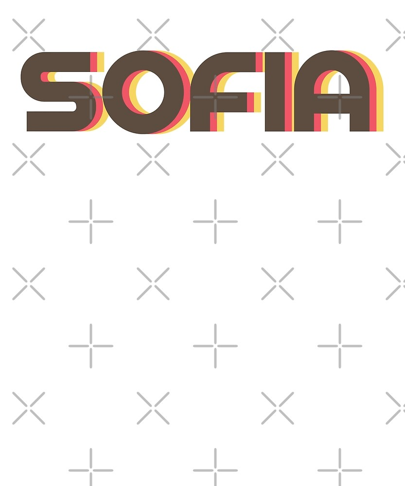 Retro Sofia T-Shirt by designkitsch