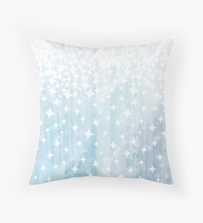 Sparkle and Watercolor Throw Pillow